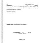 Impreso alegación para la aprobación del Plan General de Ordenación Urbana