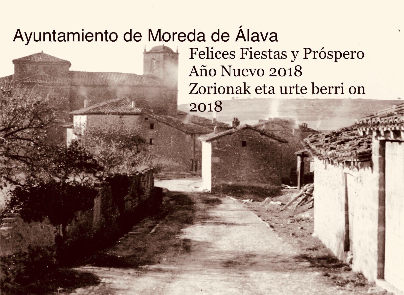 felicitación navideña ayuntamiento de Moreda de álava