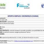 OFERTA DE EMPLEO COCINERO/COCINERA VIANA