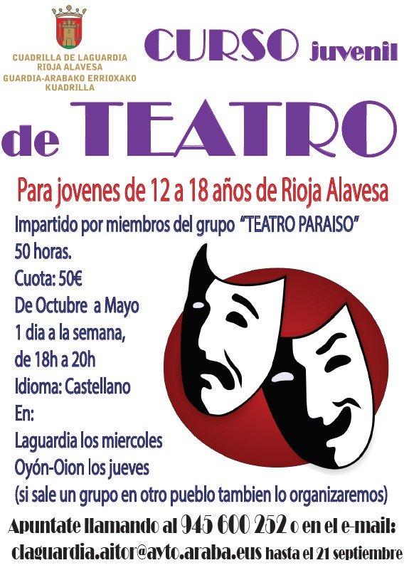 curso de teatro para jóvenes en rioja alavesa
