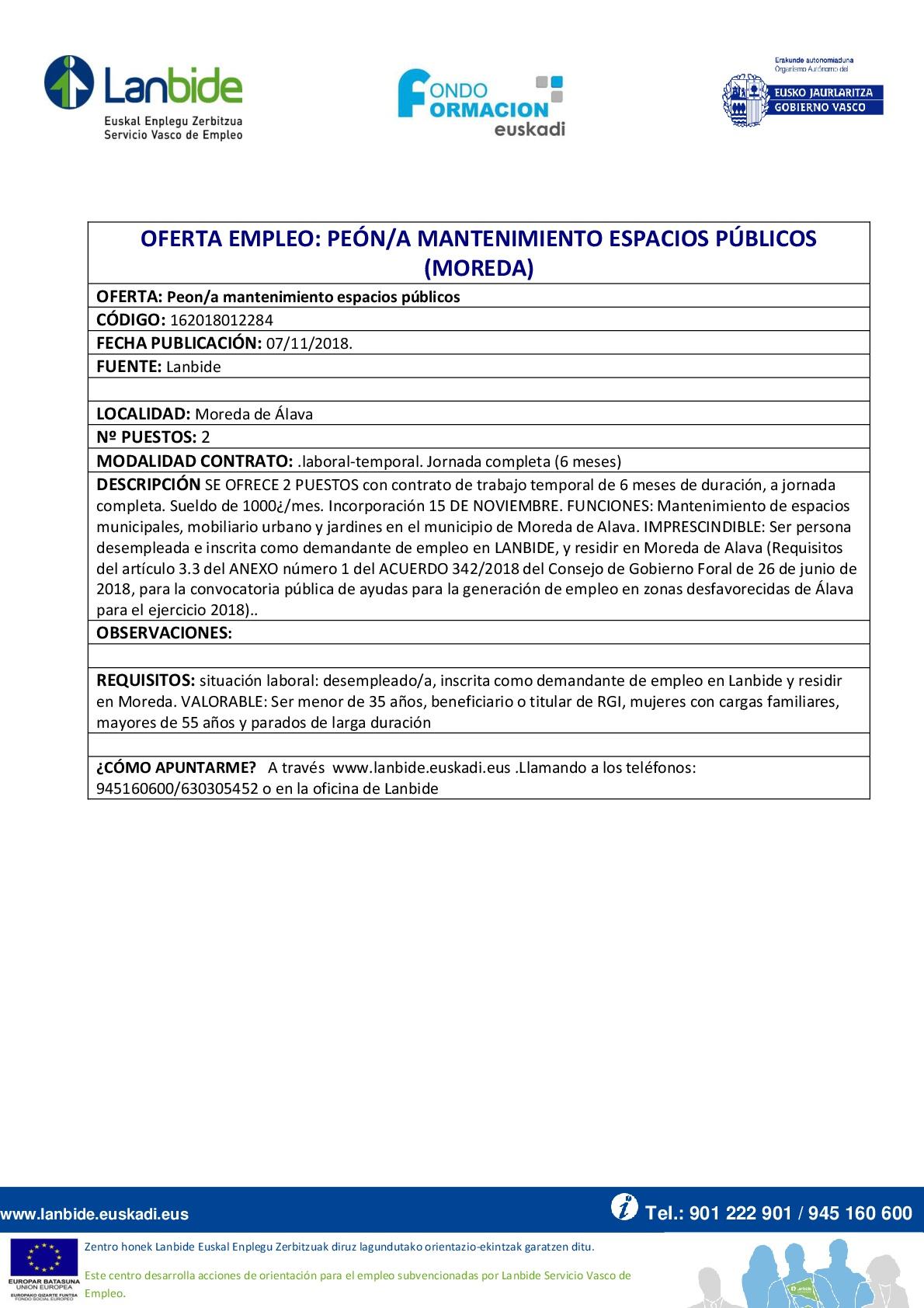 oferta_peón mentenimiento espacios públicos_Moreda_Lanbide-001