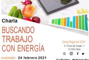 "CHARLA-TALLER ""BUSCANDO TRABAJO CON ENERGÍA"""